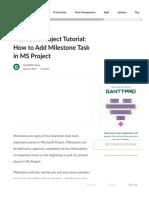 Microsoft Project Tutorial_ How to Add Milestone.pdf
