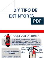 platica uso y tipos de extintores