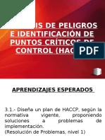 Clase 1  Análisis peligros e identificación PCC (HACCP)