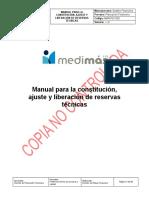 MAN-PLF-002 Manual para la constitución ajuste y liberación de reservas técnicas V3