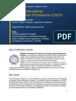 Husin Group - CISCP Schedule
