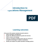 Lecture 1- Operations Management and Productivity(s)