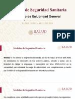 Medidas de Seguridad Sanitaria COVID19 México