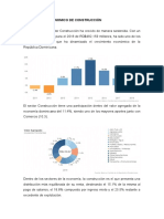 CRECIMIENTO ECONOMICO DE CONSTRUCCIÓN