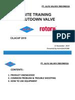 site training SDV - cilacap 2019