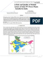 A Review on Role and Quality of Module Mounting Structure of Solar PV Power Plants Installed in India