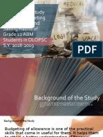 Corrolational Study Between Budgeting of Allowance and Saving.pptx