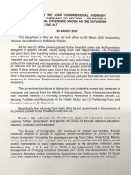 Duterte's first report to Congress on COVID-19 response