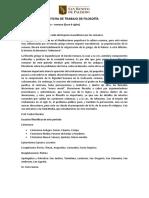FICHA DE TRABAJO DE FILOSOFÍA
