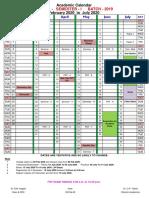 Academic Calendar (2019 Batch-Ist Sem)