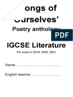 Igcse Poetry Notes for Exam in 2019-20-21