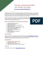 Signal & Image Processing an International Journal