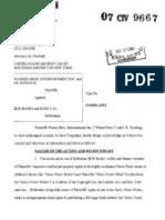 JK Rowling's Harry Potter Copyright Infringement Lawsuit 07cv9667(S.D.N.Y.)