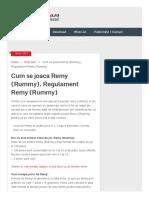 Cum se joaca Remy (Rummy)