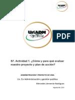 S7.actividad 1.¿Cómo y para qué evaluar nuestro proyecto y plan de acción