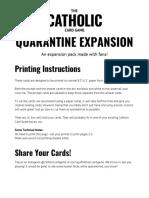 Catholic Card Game Quarantine Expansion