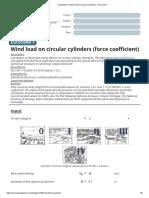 Calculation of wind load on circular cylinders - Eurocode 1