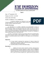 Report on Software Testing Workshop 230919