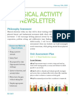physical education newsletter assignment