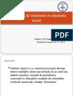 Algoritmul de tratament in edentatia totala- POP PAULA-GR 2