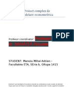 Modelare econometrica