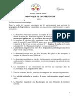 Communiqué du gouvernement- Coronavirus.pdf