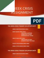 GREEK CRISIS ASSIGNMENT