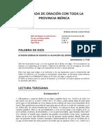 JORNADA DE ORACIÓN CON TODA LA PROVINCIA IBÉRICA