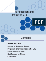 Resource Allocation and Reuse in Lte