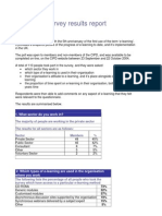 CIPD E-learning Survery Report