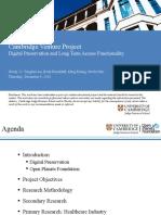 Cambridge Judge Business School, Market Research Digital Preservation