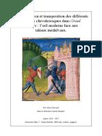 Représentation et transposition des différents modèles chevaleresques dans Graal Théâtre