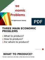 2. Three Economic Problems & PPF