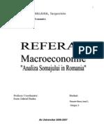 Analiza Somajului in Romania