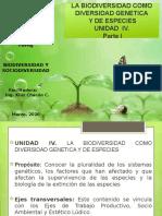 Biodiversidad y Sociodiversidad . Unidad IV. Parte I