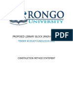 Method Statement for Construction of Proposed Library