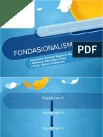 Fondasionalisme presentasi