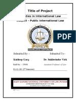 TREATIES IN INTERNATIONAL LAW