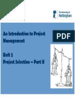 Unit 2 2 (U) - Project Selection Methods (Week 4)