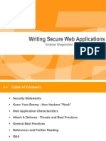 Writing Secure Web Applications