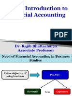 BRIEF INTRODUCTION TO FINANCIAL ACCOUNTING