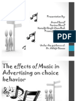 The Effects of Music in Advertising on Choice