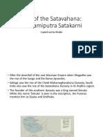 Rise of satavahana ,Gautamiputra satakarni
