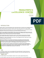 PARALYMPICS EXCELLENCE CENTRE