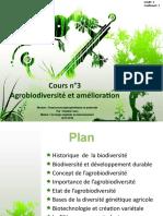 3°Agrobiodiversité et amélioration des plantes