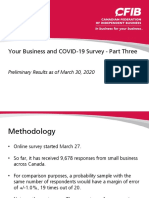 COVID 19 Survey Results March 31 - Canadian Federation of Independent Business