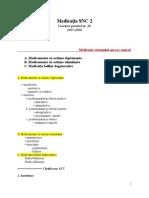 Lucrarea practică nr. 26 - Medicaţia SNC 2