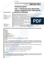 NBR 2768-1 Tolerancias Gerais