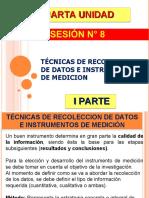 SESIÓN N° 8 - tecnicas e instrumentos de recolección