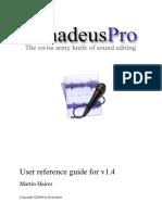 Amadeus Pro Manual